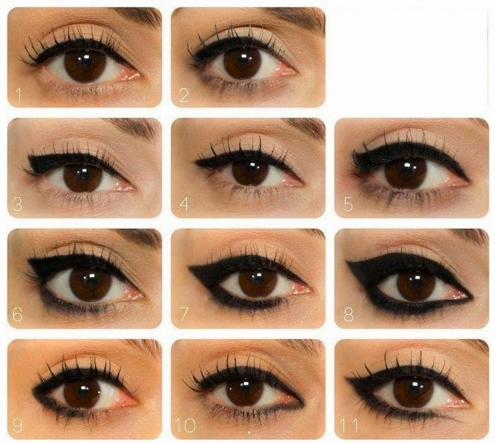 Maquillage yeux marrons eye liner - Maquillage simple mais beau ...